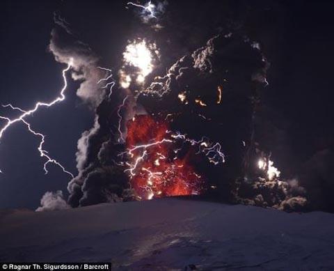 エイヤフィヤトラヨークトル氷河、火山によって作られた風景
