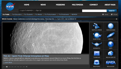 NASAが地球外生物に関する会見を12月2日に開催予定